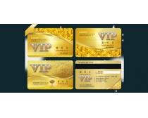 金色VIP贵宾卡设计PSD素材