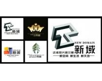 房地產logo標志設計PSD素材