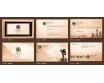 欧式风格名片卡片设计PSD素材