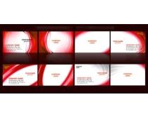 高档大红名片卡片设计PSD素材
