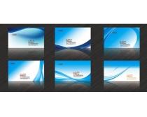 蓝色高档科技名片卡片设计PSD素材