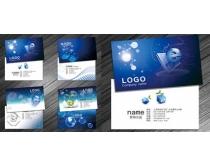 动感科技名片卡片设计PSD素材