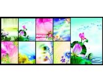 唯美鲜花花卉背景PSD素材