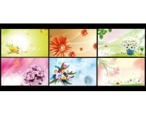 时尚花纹花卉背景设计PSD素材