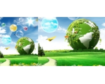 绿色环保自然生态广告PSD素材