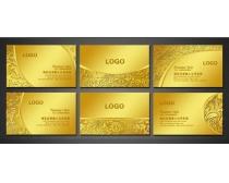 金色花纹VIP卡设计PSD素材