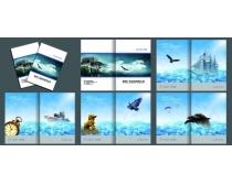 淡蓝色企业画册设计PSD素材