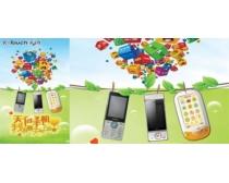 天语手机淡绿广告海报PSD素材