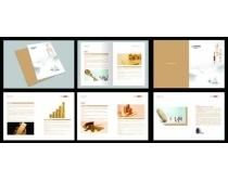 简洁农行金融画册模板矢量素材