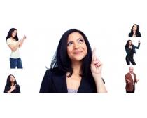 职场人物开心手势高清图片素材