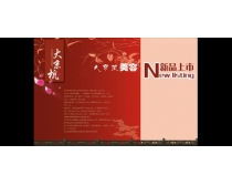 大京杭美容院宣传封面PSD素材