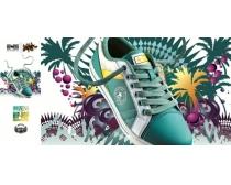 匡威之星鞋业展板广告PSD素材