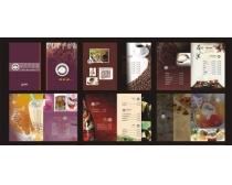 西餐厅咖啡画册矢量素材