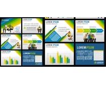 国外商业画册模板矢量素材