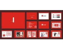 红色地产VI提案矢量素材
