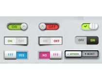 图标按钮PSD素材