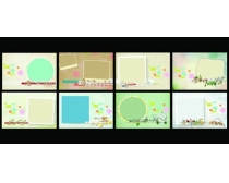 卡通相框边框模板展板设计PSD素材