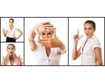 手势女性高清图片