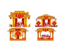 加多宝春节促销吊旗海报矢量素材