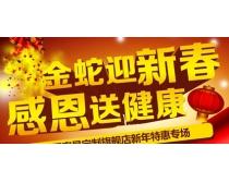 新春送礼海报设计PSD素材