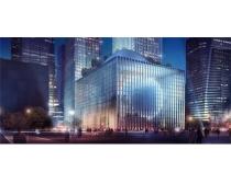 夜景商业大厦建筑PSD素材
