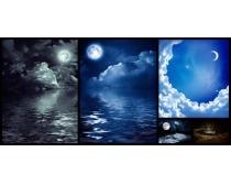 夜色天空月亮高清图片
