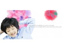 躺着的韩国男孩PSD素材