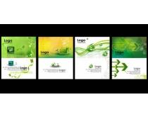 清爽科技名片卡片设计PSD素材