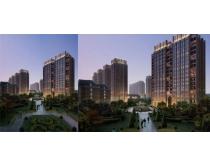 景观环境建筑效果图PSD素材