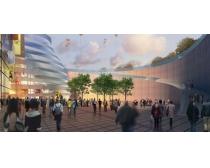 商业景观建筑环境效果PSD素材