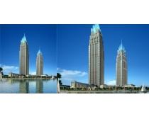 城市大厦建筑景观PSD素材