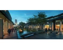 现代商业街建筑PSD素材