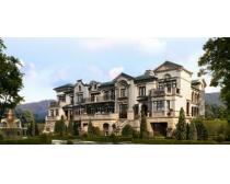 欧式房屋建筑景观PSD素材
