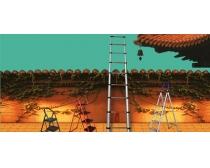 文化建筑梯子广告PSD素材
