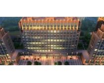 办公大厦鸟瞰景观PSD素材