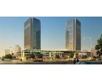 街道高档大厦建筑PSD素材