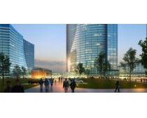 国外商业大厦建筑景观PSD素材