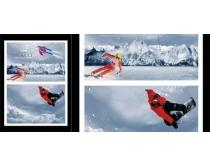 滑雪运动广告海报时时彩投注平台