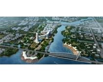 鸟瞰城市景观设计PSD素材