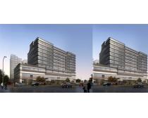 公路边建筑设计景观PSD素材