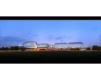 现代创意建筑景观PSD素材