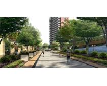 大学校园景观PSD素材