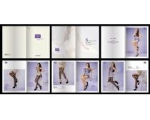 美女丝袜画册设计矢量素材