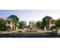 雅典城房地产建筑景观PSD素材