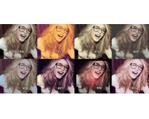 12种美女头像单色效果PS调色动作