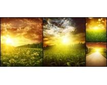 夕阳自然景色高清图片