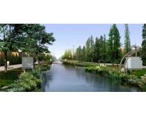 环境河流景观PSD素材