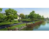 建筑广场绿化环境景观PSD素材