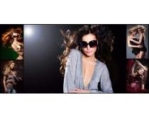 时尚模特写真拍摄高清图片