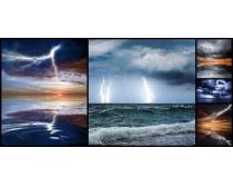 闪电大海景色高清图片